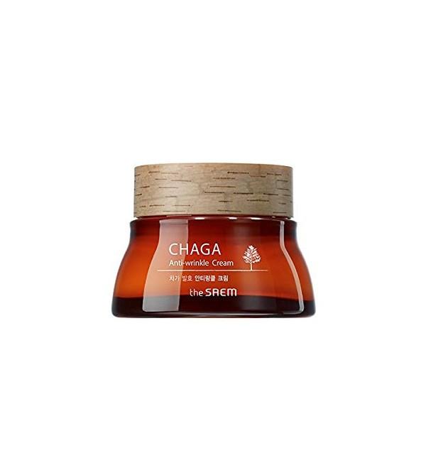 Крем для лица от морщин с экстрактом древесного гриба чага The Saem Chaga Anti-Wrinkle Cream (60 мл)