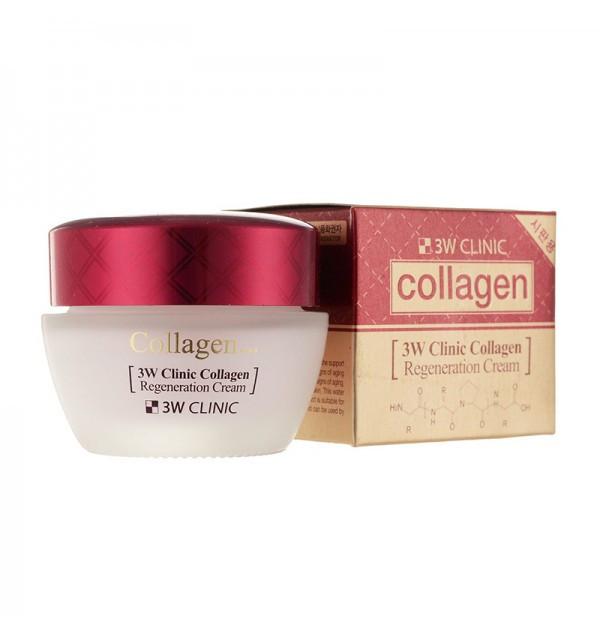 Крем для лица с коллагеном 3W Clinic Collagen Regeneration Cream (60 мл)