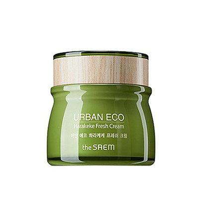 Крем для лица с экстрактом новозеландского льна The Saem Urban Eco Harakeke Fresh Cream (60 мл), фото 2
