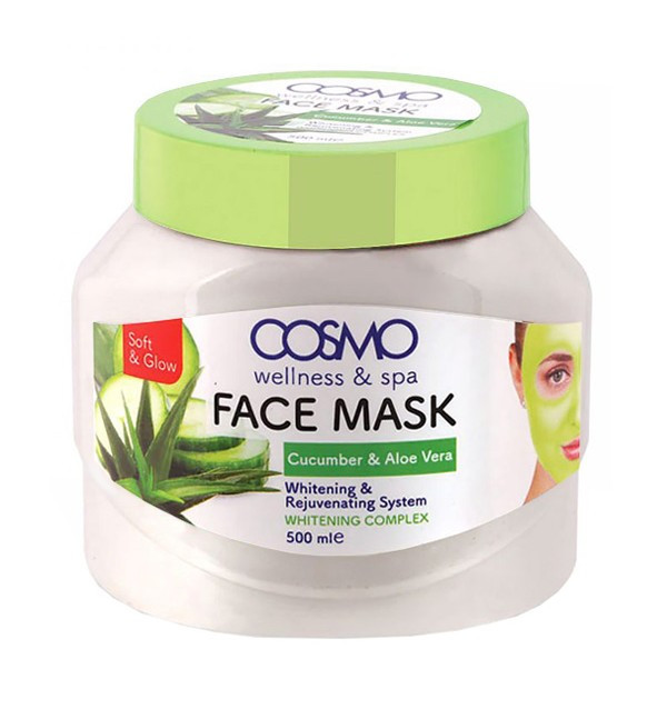 Крем-маска с огурцом и алоэ вера Cosmo Cucumber and Aloe Vera Face Mask (500 мл)