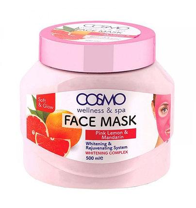 Крем-маска с розовым лимоном и мандарином Cosmo Pink Lemon and Mandarin Face Mask (500 мл), фото 2