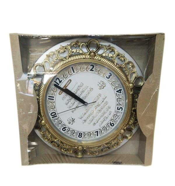 Круглые часы с арабской вязью