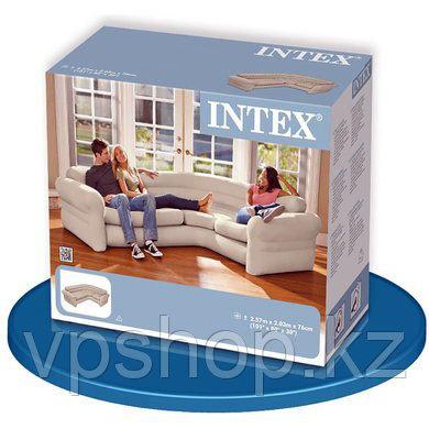 Надувной угловой диван Corner Sofa 257x203x76 см, Intex 68575