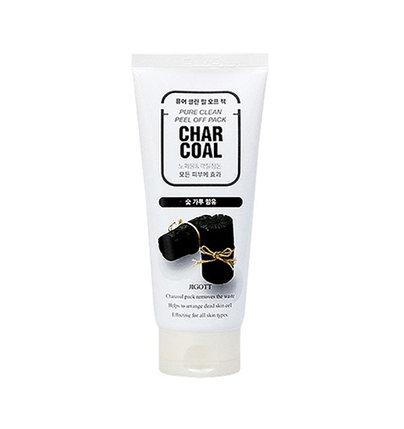 Маска-пленка для лица с древесным углем Jigott Pure Clean Peel Off Pack Charcoal (180 мл), фото 2
