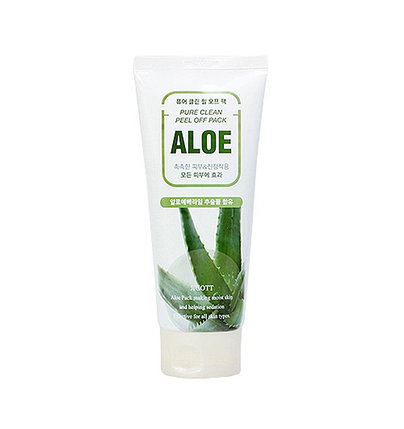 Маска-пленка для лица с экстрактом алоэ Jigott Pure Clean Peel Off Pack Aloe (180 мл), фото 2