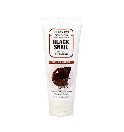 Маска-пленка для лица со слизью черной улитки Jigott Pure Clean Peel Off Pack Black Snail (180 мл), фото 2