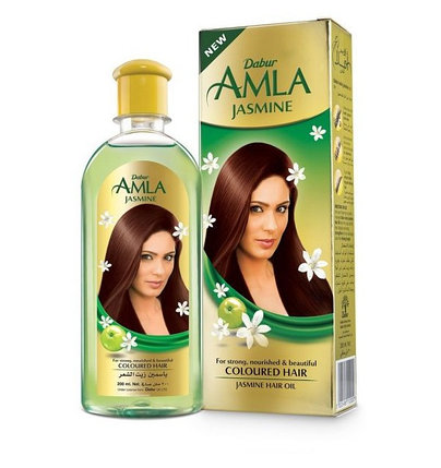 Масло для окрашенных волос Dabur Amla Jasmine, фото 2