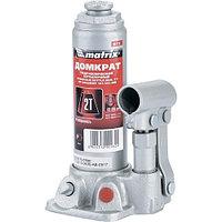 Домкрат гидравлический бутылочный, 2 т, h подъема 181 345 мм// MATRIX MASTER