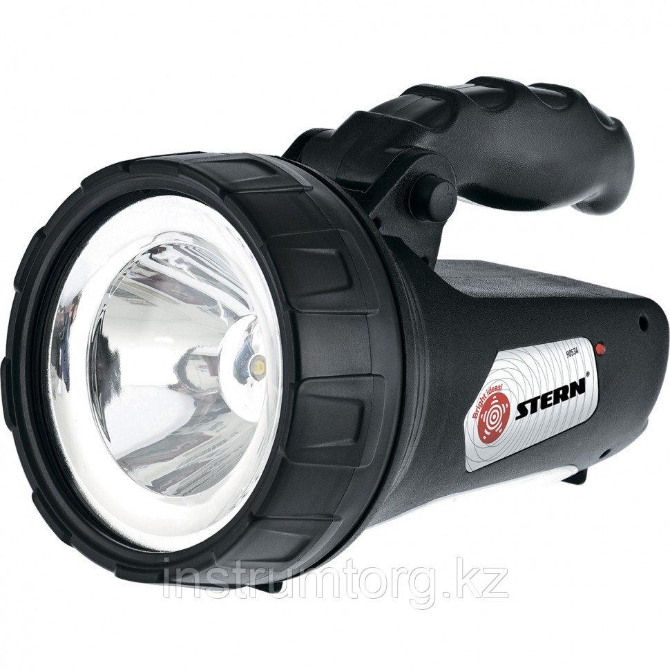 Фонарь поисковый, многофункциональный, аккумуляторный, 1 и 15 LED// Stern