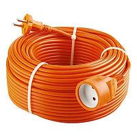 Удлинитель-шнур силовой с защитными шторками, 2*1мм*50м, 1 прорезиненная розетка, 10A, STERN