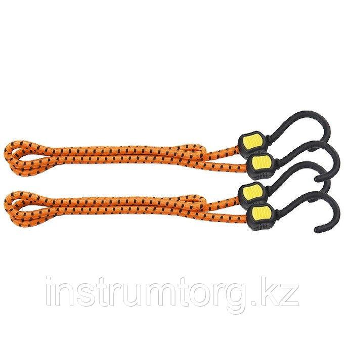 Резинки багажные, обрезиненные крюки, 2 шт, 1000 мм// Stels