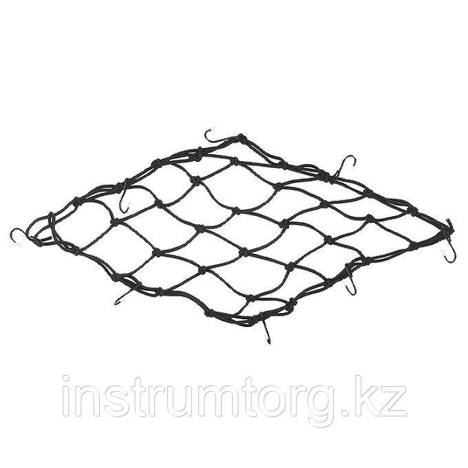 Сетка багажная, 40х40 см, 8 крюков// STELS