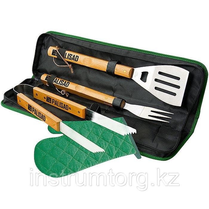 Набор приборов для барбекю 4 предмета в сумке//PALISAD Camping