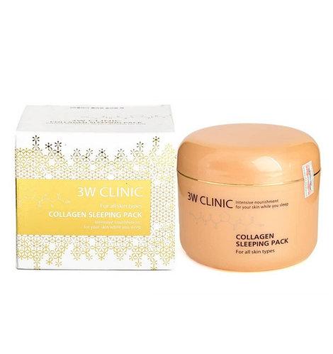 Ночная маска для лица с коллагеном 3W Clinic Collagen Sleeping Pack (100 мл)