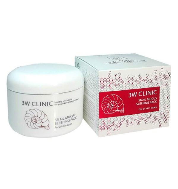 Ночная маска для лица со слизью улитки 3W Clinic Snail Mucus Sleeping Pack (100 мл)