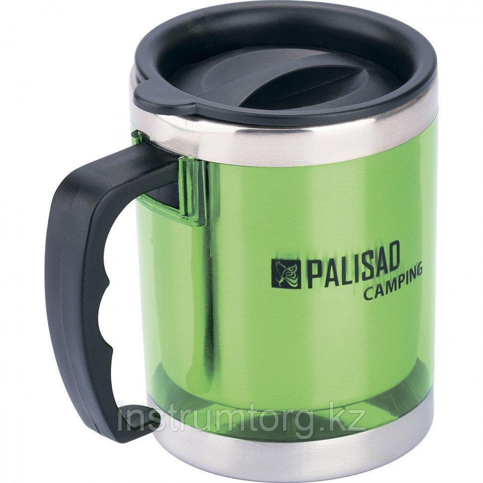 Термокружка с крышкой-поилкой в пластиковом корпусе, 300 мл //PALISAD Camping
