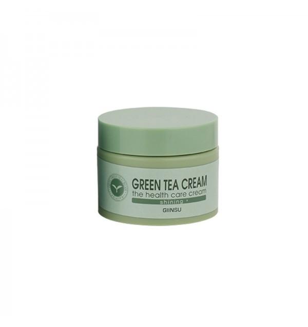 Осветляющий крем для лица с зеленым чаем Giinsu Shining Green Tea Cream (50 г)