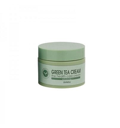 Осветляющий крем для лица с зеленым чаем Giinsu Shining Green Tea Cream (50 г), фото 2