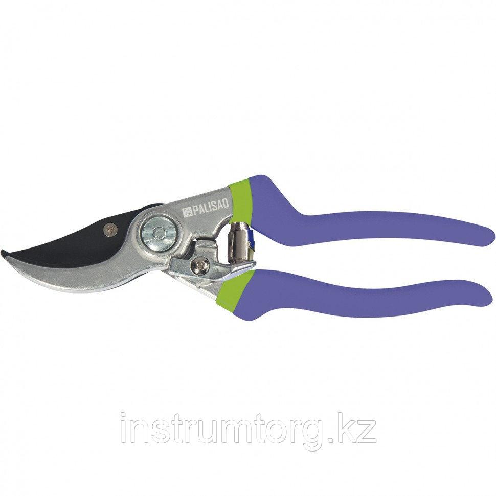 Секатор прямого реза, 200 мм, металлические обрезиненные рукоятки// Palisad