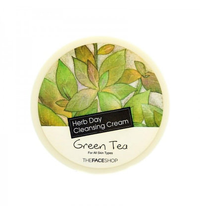 Очищающий крем для лица c зеленым чаем The Face Shop Herb Day Cleansing Cream Green Tea (150 мл), фото 2