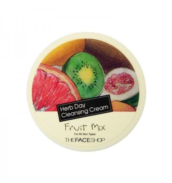 Очищающий крем для лица с фруктовыми экстрактами The Face Shop Herb Day Cleansing Cream Fruit Mix (150 мл)