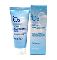 Пенка для умывания Farm Stay O2 Premium Aqua Foam Cleansing (100 мл)