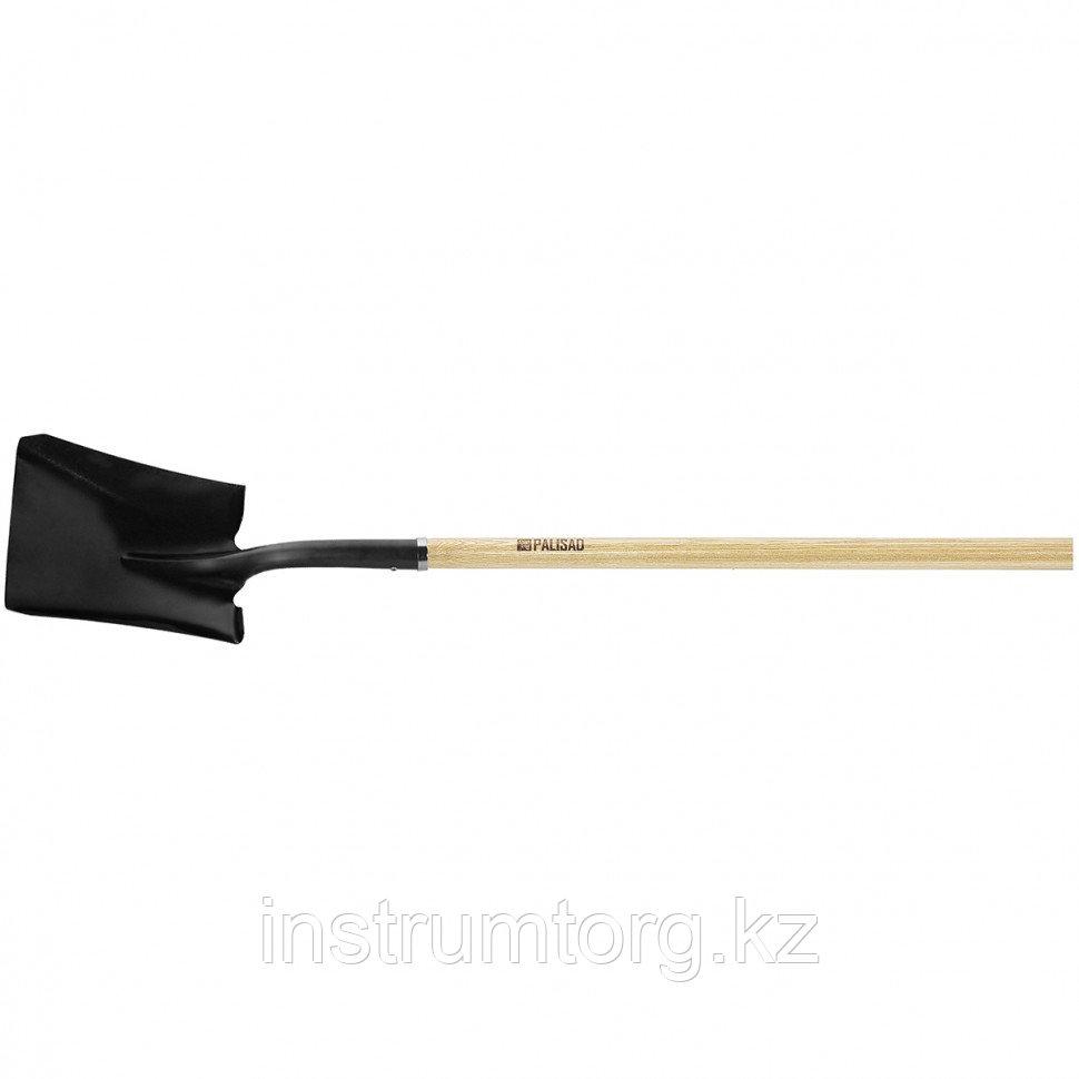 Лопата совковая, эргономичный черенок из вяза, общая длина 1500 мм// PALISAD