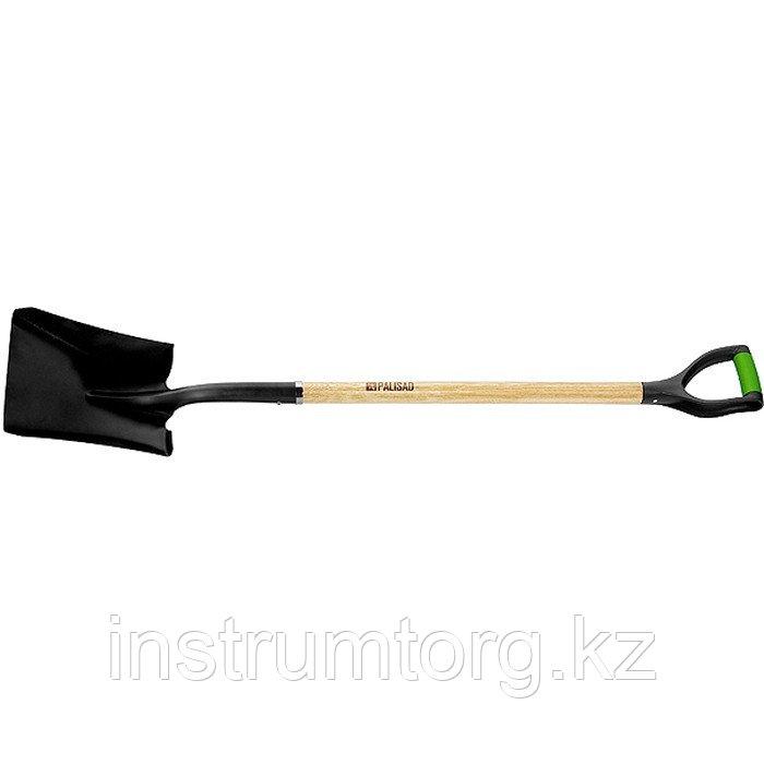 Лопата совковая, эргономичный черенок из вяза, двухкомп. рукоятка, общая длина 1250 мм// Palisad