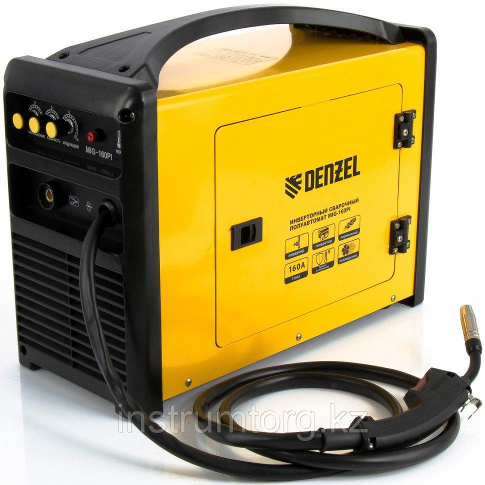 Инверторная сварка тип MIG MAG MIG-160PI, 160А, ПВР 60%, диам. 0,6-0,8 мм// Denzel