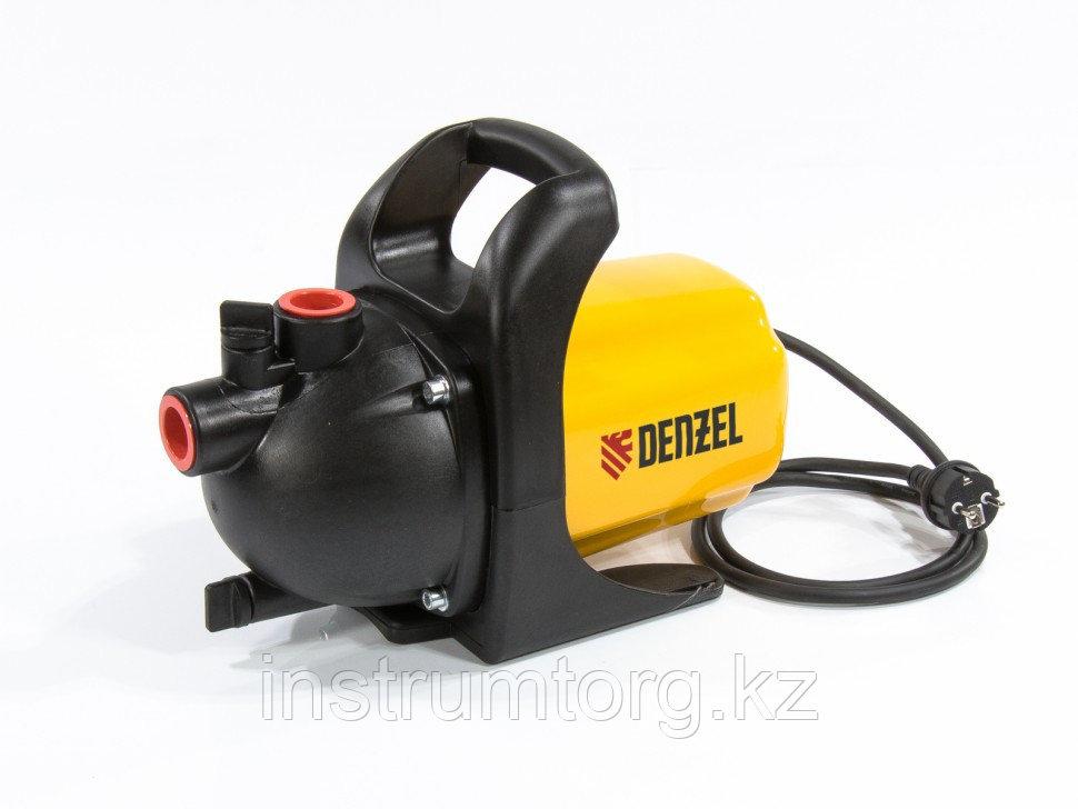 Садовый поверхностный насос GP600, 600 Вт, 3000 л/ч, подъем 35 м, пластик// Denzel