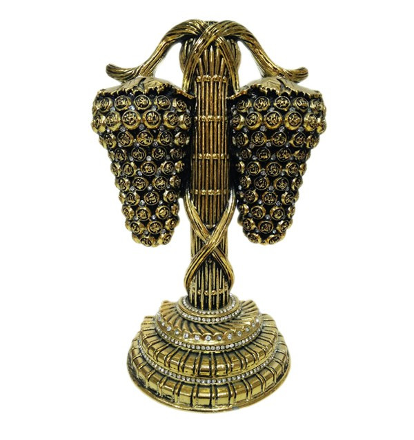 Сувенир «Гроздь ягод» с 99 именами Аллаha (золотистый)
