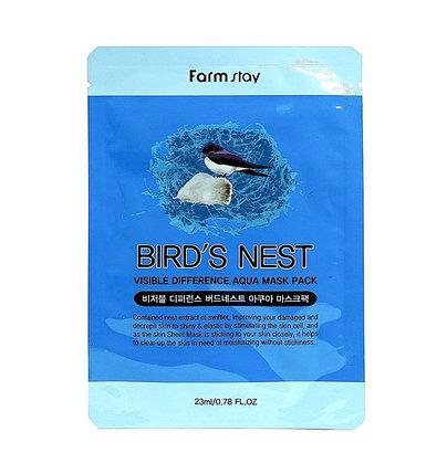 Тканевая маска для лица с экстрактом ласточкиного гнезда Farm Stay (23 мл), фото 2