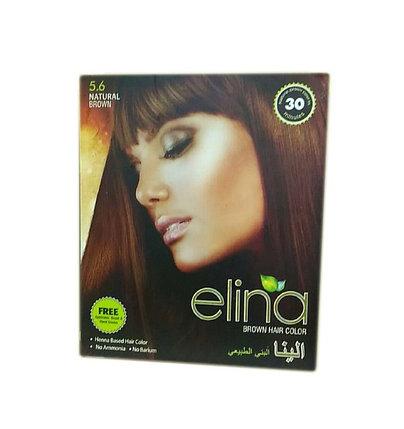 Хна для волос Elina Brown Hair Colour (коричневая), фото 2