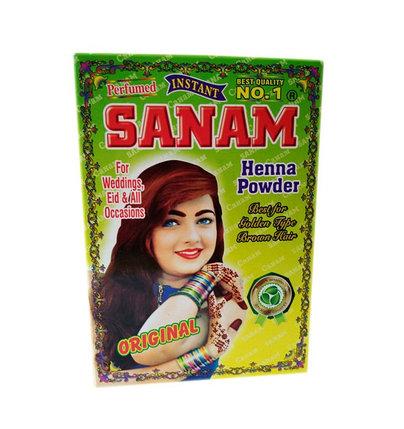 Хна для волос и мехенди Sanam (коричневая), фото 2