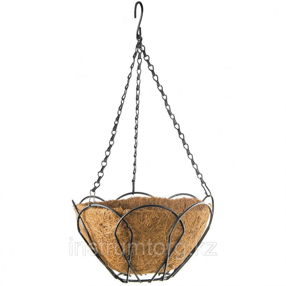 Кашпо подвесное, с кокосовой корзиной, диаметр 25 см// Palisad