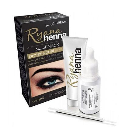 Хна для окрашивания бровей Ryana Henna (black), фото 2