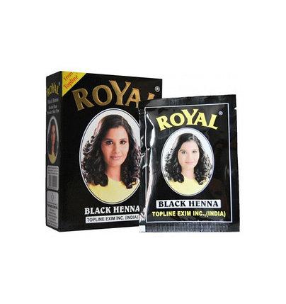 Хна для окрашивания волос Royal Black (черный), фото 2