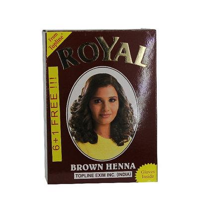Хна для окрашивания волос Royal Brown (каштановый), фото 2