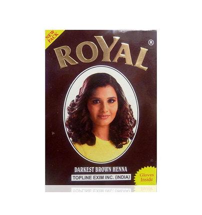 Хна для окрашивания волос Royal Darkest Brown (темно-каштановый), фото 2