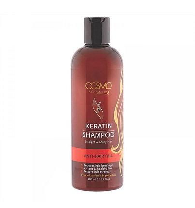 Шампунь от выпадения волос с кератиновым маслом Cosmo Keratin Shampoo (480 мл), фото 2