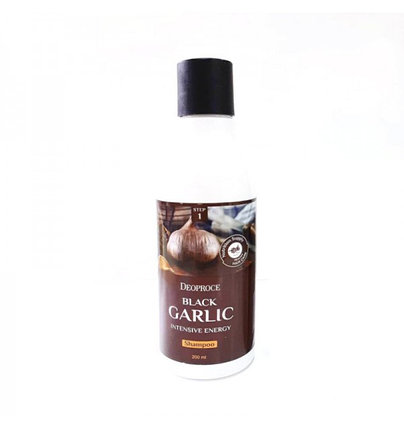 Шампунь от выпадения волос с чёрным чесноком Deoproce Black Garlic Intensive Energy Shampoo (200 мл), фото 2