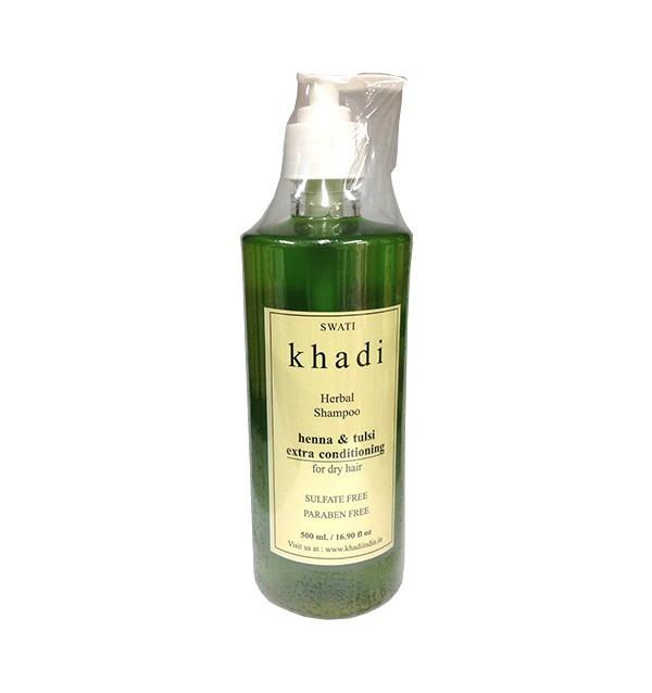 Шампунь-кондиционер с хной и туласи для сухих волос Khadi