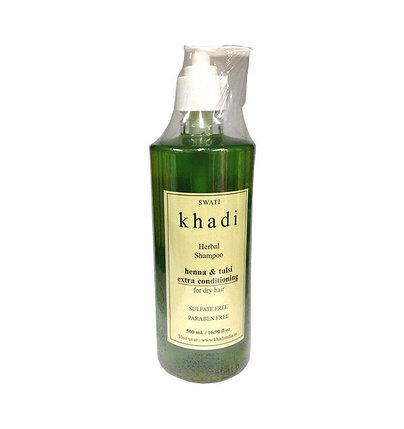 Шампунь-кондиционер с хной и туласи для сухих волос Khadi, фото 2