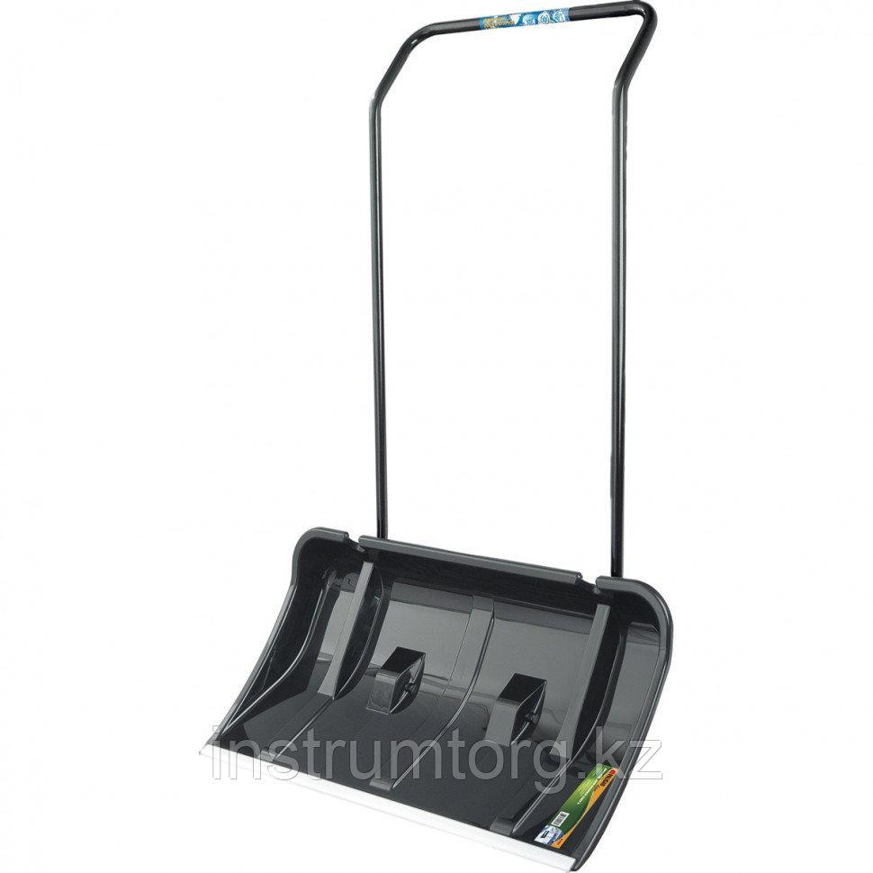 Движок для уборки снега пластиковый, 780х425х1230 мм, 2 части (ковш, стальная рукоятка)// Palisad
