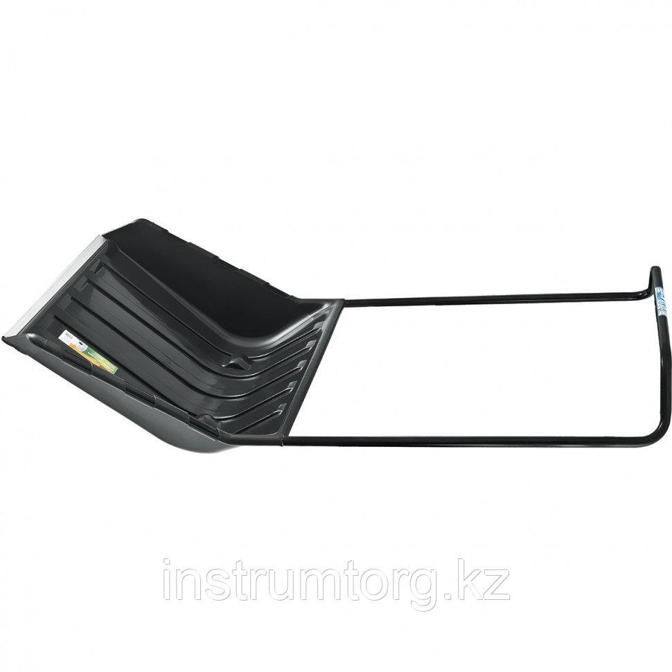 Движок для уборки снега пластиковый, 540х700х1475 мм, 2 части (ковш, стальная рукоятка)// Palisad