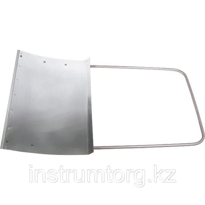 Движок для уборки снега алюминиевый, 755х505х1240 мм, стальная рукоятка, Россия// Сибртех