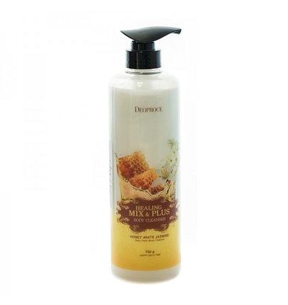 Гель для душа Deoproce Healing Mix & Plus c медом и жасмином (750 мл), фото 2