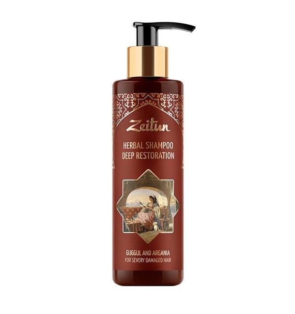 Глубоко восстанавливающий фито-шампунь с арганой и миртом для сильно поврежденных волос Zeitun (200 мл)