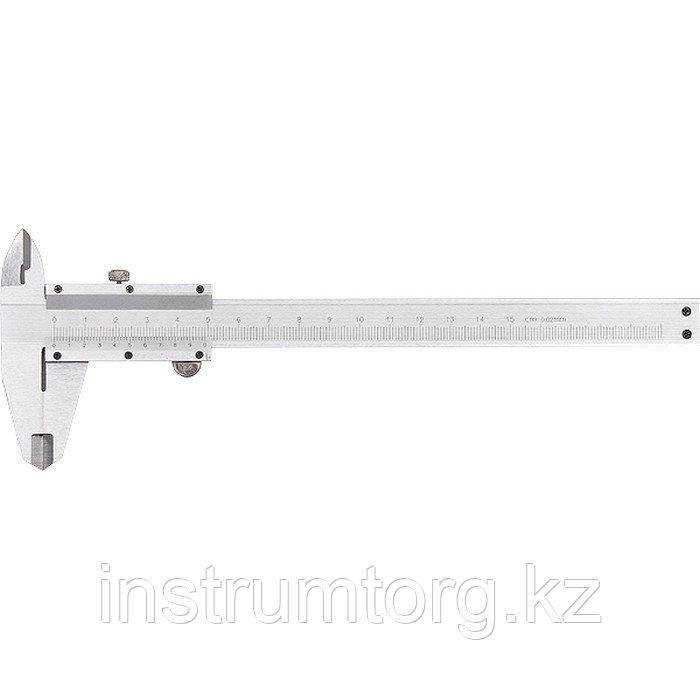 Штангенциркуль, 150 мм, цена деления 0,02 мм, металлический, с глубиномером// Matrix