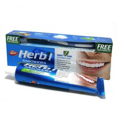 Зубная паста для курящих  Dabur Herbal Smokers, фото 2
